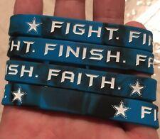"LOT OF 4 Dallas Cowboys ""FIGHT. FINISH. FAITH"" Dak Prescott Wristbands Bracelets"