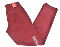 Levis 511 Mens Pants New 28 x 30 28 x 32 Burgundy Stretch Slim Red Chino Party