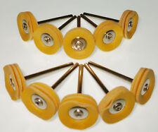 10 SixLayer 3/4 Yellow Leather Polish Brush 1/8 stem BIT Dremel's or ROTARY TOOL