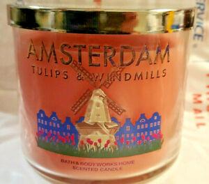 AMSTERDAM Tulips & Windmills PINK Bath & Body Works 3 Wick 14.5 Oz Candle New