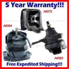 A071 For 00-02 Accord 2.3L Front/Front Left/Rear Mount Set w/Vacuum 3PCS / Auto