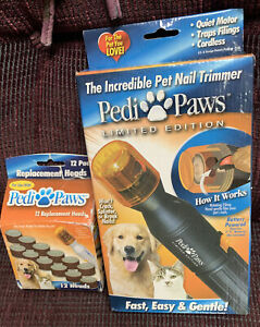 PEDI PAWS LIMITED EDITION PET NAIL TRIMMER & 12 REPLACEMENT HEADS