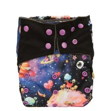 Baby Pocket Cloth Diaper Nappy Cover Charcoal Reusable Gusset Solar System