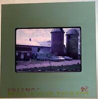 Slide Silo Trailer Classic Cars 35mm vtg 1960s The Villa old building Kodachrome