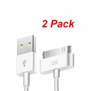 2x 3ft USB Charger Cable Sync Data Charging Cord for Apple iPhone 4 4S iPad iPod