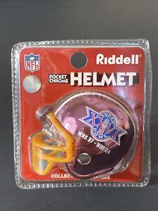 Riddell Washington Redskins Pocket Chrome Helmet Super Bowl XXVI Football