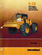 International Vintage S-10 Paylogger Cable Model Specifications Brochure