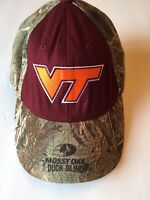 Virginia Tech VT Hokies Football Mossy Oak Duck Blind Camo Deer Hunting Hat Cap
