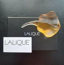 Very Rare Lalique Stingray / Manta Ray , Fish . Amber 10544200 BNIB Gift idea
