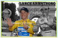 * LANCE ARMSTRONG * HUGE SIGNED PHOTO OF THE TOUR DE FRANCE 7 TIMES WINNER *