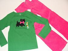Gymboree Cheery All The Way Girls Size 7 Top Dog Cord Pink Pants NEW NWT