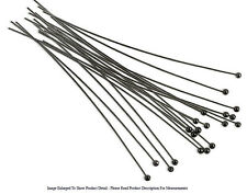 "(20) Gun Metal Plated Head Pin 3"" Long 2mm Ball 24 Gauge Wire Beading Craft"