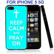 Baby Blue Keep Calm and Pray On For Iphone5 5G Case Cover