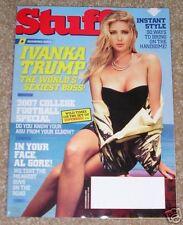 Magazine STUFF SEPTEMBER 2007 IVANKA TRUMP ISSUE 94 Al Gore Diamond Doll