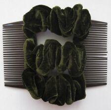 green velvet fabric material double elastic stretch hair comb updo bun maker