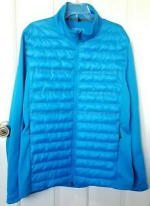Nike Aeroloft Golf Jacket Men's XL Blue Puffer Coat Poly Fill Lightweight Warmth