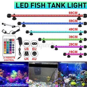 Aquarium LED Light RGB White Blue Strip Light Bar Lamp Lights For Fish Ta
