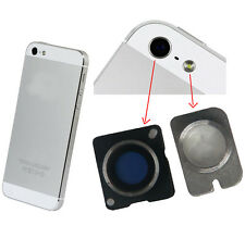 Original Rear Camera Lens Cover + Flash LED Right Replacement For iPhone 5 White