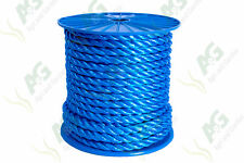 16MM x 50 mètres multifilaments polypropylène bleu câble sur bobine