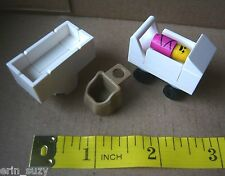 New Lego Custom Baby girl, carriage, bed, sling set Lego Friends Minifig Retired
