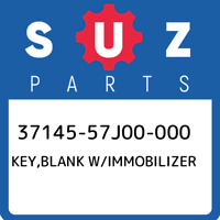 37145-57J00-000 Suzuki Key,blank w/immobilizer 3714557J00000, New Genuine OEM Pa