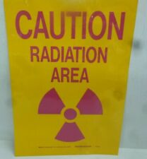 New listing New Brady Caution Radiation Area Sign,14 x 10In, Pnk/Yel, Self Adhesive, 88739