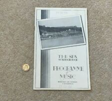 More details for 1934 programme of music show the spa scarborough theatre period adverts #scar