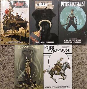 Peter Panzerfaust graphic novel TPB lot #1-5 COMPLETE SET - Kurtis Wiebe - Image
