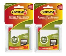 Command mediano colgar cuadros tiras valor paquete 6