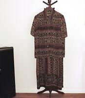 Dressbarn Woman size 22 Sleeveless 2-piece Dress with Jacket Giraffe Tribal