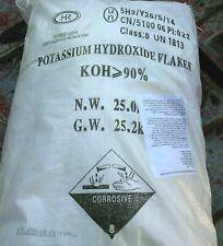 Potassium Hydroxide Flake Koh Strength 90 55 Lbs Biodiesel Process Catalyst
