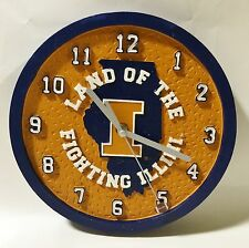 Illinois University Fighting Illini Ceramic Round College Clock by Talegaters