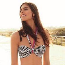 Ellipse Bikini ZEBRA strapless top 70C NEW