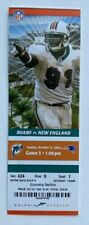 2007 New England Patriots at Miami Dolphins Ticket 10/21/07 Tom Brady 6 TDs