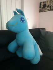 Big Plush Animal Horse Toy Soft Stuffed Doll  60cm Blue