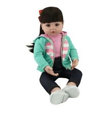 "NPK Reborn Baby Dolls Toddler Newborn 19"" Vinyl Silicone Girl Doll Birthday Gift"