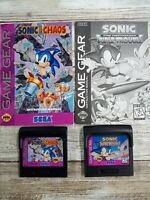 Sonic The Hedgehog Triple Trouble + Chaos Sega Game Gear Lot With booklets Works