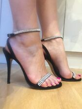 River Island shoes sexy high heels with crystals size UK 6