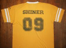 SHINER SPECIALTY BEERS / RAMS 19 SHINER 09 / TEXAS USA / YELLOW T-SHIRT SIZE XL