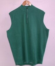 PETER MILLAR CROWN SPORT SHELBY 1/4 ZIP PEA GREEN SWEATER VEST LARGE NWT $165