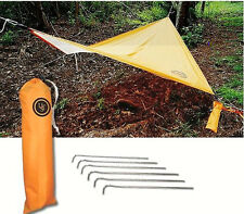 ULTIMATE Survival All Weather BASE Lightweight Camping Tarp Shelter w/tent stake