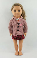 Fit For 18'' American Girl Leopard Skirt Bird Vest Tops Coat Jacket Doll Clothes