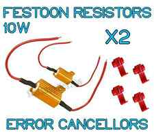 2x FESTOON ERROR RESISTORS 10W CANBUS NO ERROR LOAD RESISTORS 4W-6W W5W T10 BA9S
