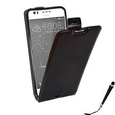 Black Leather Flip Card Wallet Case Cover for HTC Desire 530 Stylus