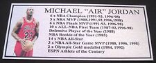 Basketball Michael Jordan Pic Silver  plaque FREE POST
