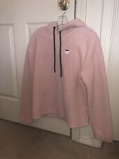 Fila Ladies Womens Sherpa Hoody Pullover Sweatshirt Sweater Size Medium Pink