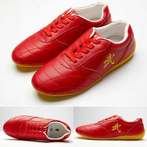 Leather Martial Arts Shoes Chinese Kung Fu Tai Chi Sneakers Sport Taolu Footwear