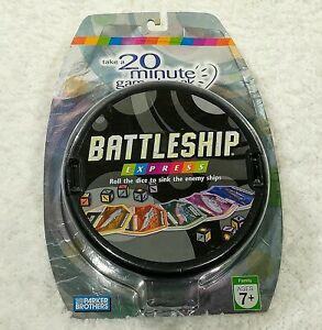 Battleship Express game family fun age 7+ Parker Brothers HASBRO 2007 complete n