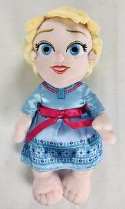 "Disney Parks Babies Baby Elsa Princess Soft Plush Toys Dolls 12"" Toddler"