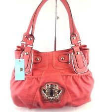 Kathy Van Zeeland Diamond Girl Shopper Handbag Shoulder Bag Geranium / Red NWT